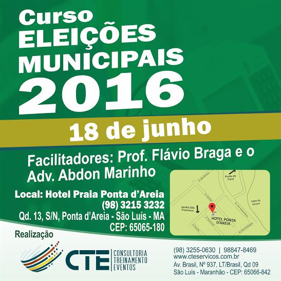 """Photo of Curso """"Eleições Municipais 2016"""" com Flávio Braga e Abdon Marinho"""