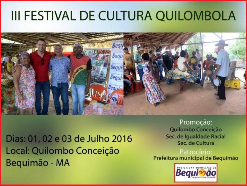 Photo of III Festival de Cultura Quilombola começa hoje na comunidade Conceição