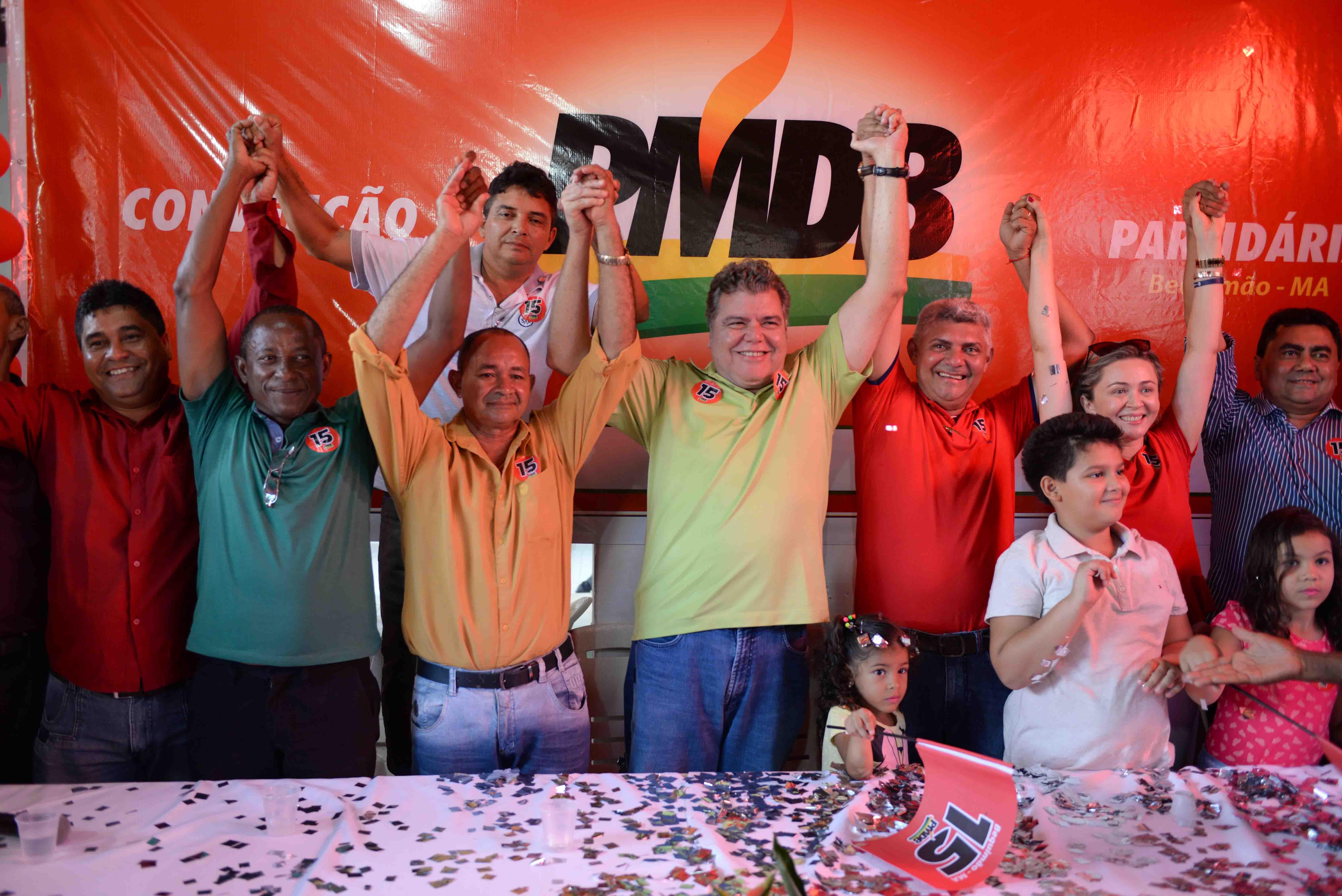 Photo of PMDB realiza convenção e oficializa candidatura de Zé Martins à reeleição para prefeito de Bequimão