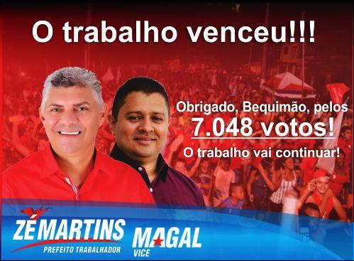 Photo of ELEIÇÕES 2016: População de Bequimão renova mandato de Zé Martins por mais 4 anos