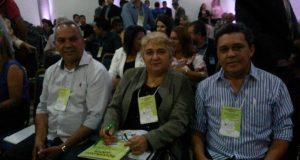 Vereador Cesar Ribeiro (DEM) , prefeita eleita, Margarete Ribeiro (PV) e o vice Osvaldo Gomes (PDT).