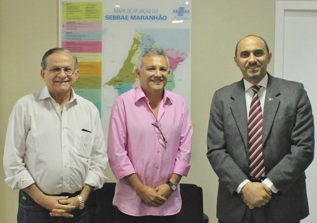 Photo of Superintendente do Sebrae-MA, recebe prefeito de Santa Helena e Conselheiro do TCE