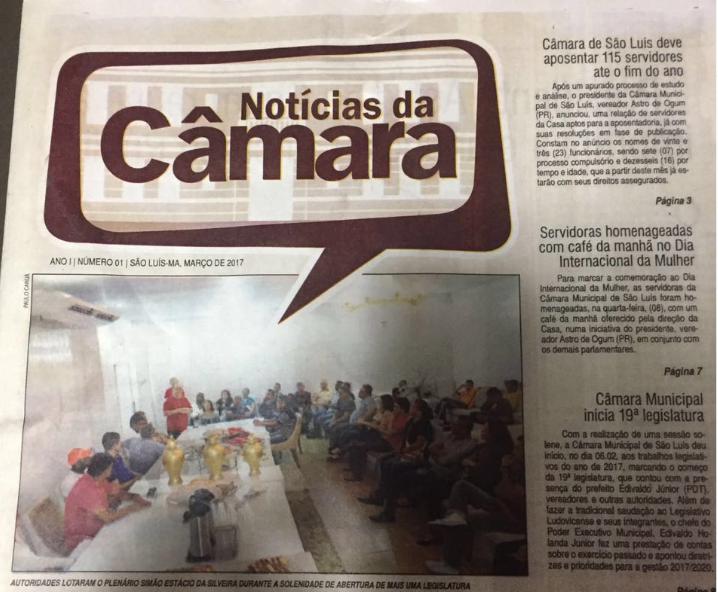 Photo of Vereadores aprovam Jornal Notícias da Câmara
