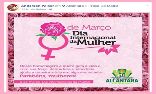 Photo of Prefeito Anderson Wilker divulga mensagem no Facebook no Dia Internacional da Mulher