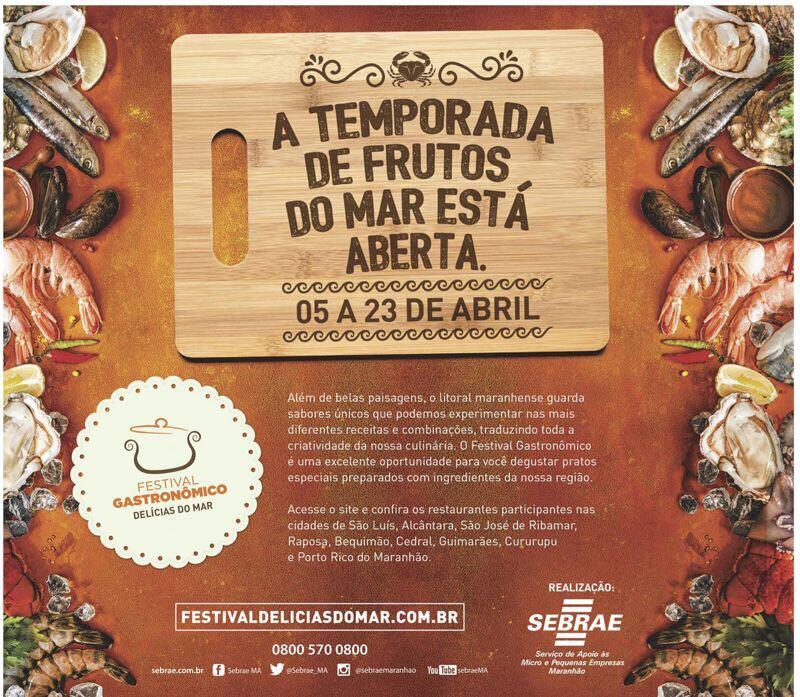 Photo of Alcântara vai sediar Festival de Gastronomia Delícias do Mar