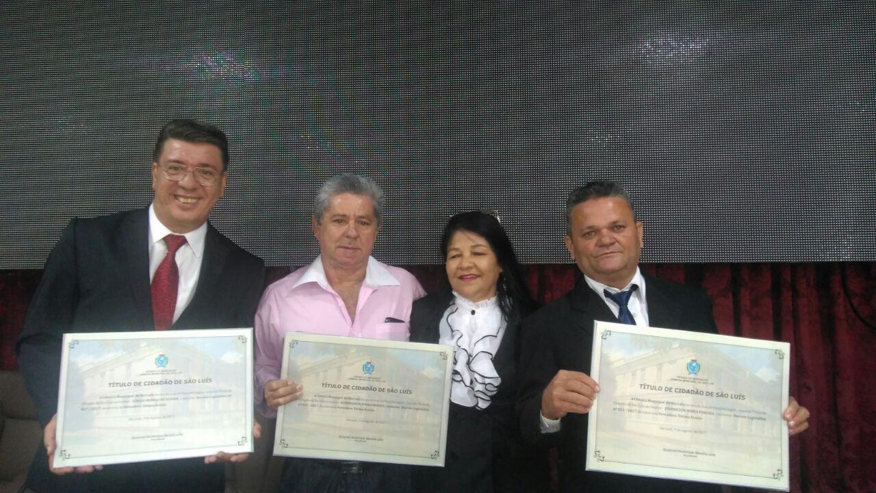Photo of Fátima Araújo entrega Título de Cidadão ludovicense a três personalidades de sucesso em São Luís