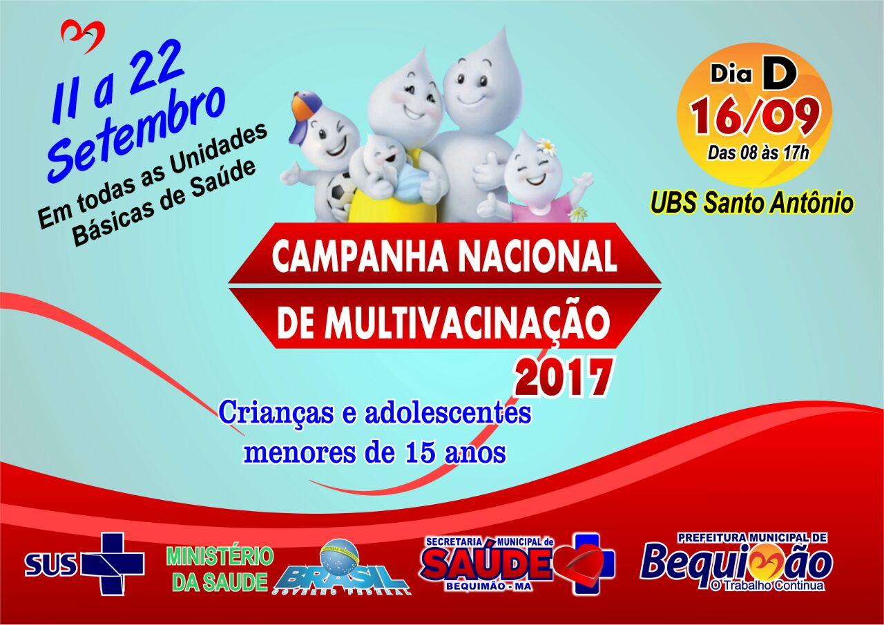 Photo of Bequimão adere à Campanha Nacional de Multivacinação 2017