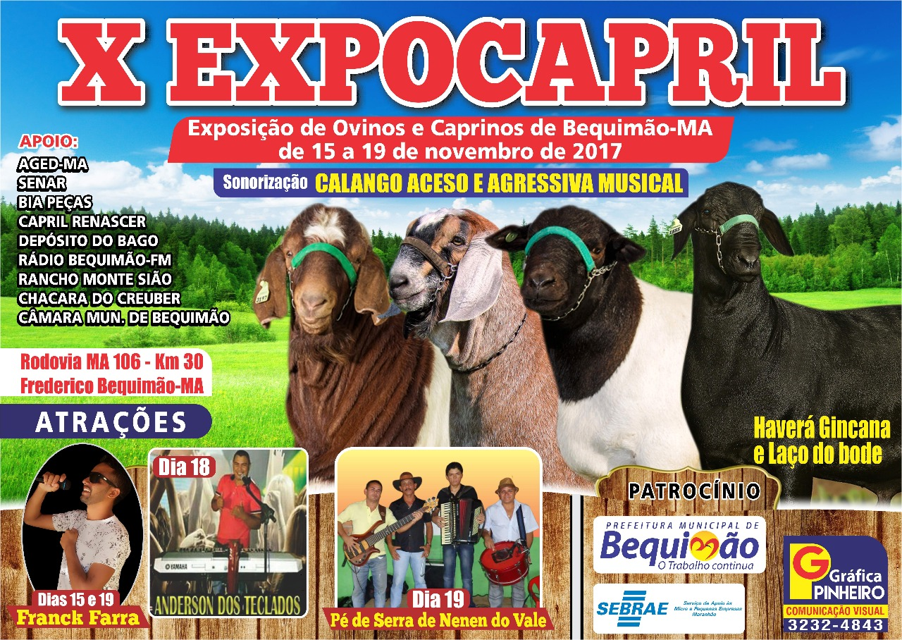 Photo of 10ª edição da Expocapril começa nesta quarta-feira (15) em Bequimão