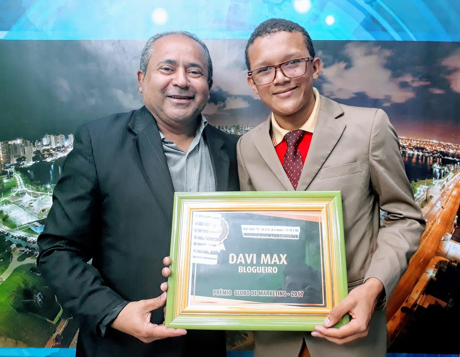 Photo of Jornalista Davi Max recebe prêmio Globo Marketing 2017