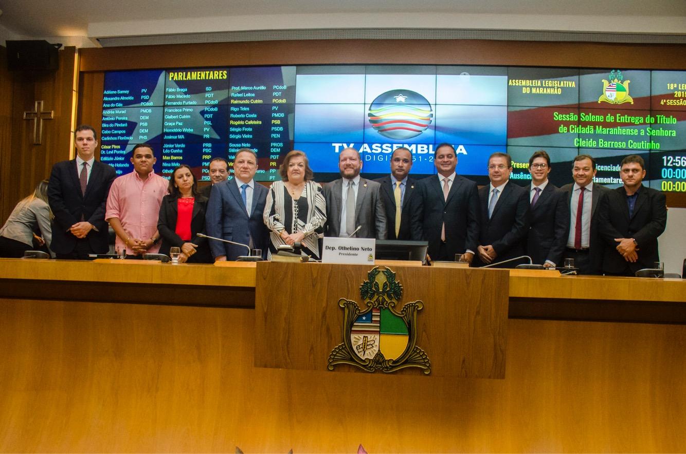 Photo of Assembleia Legislativa concede Título de Cidadã Maranhense a Cleide Coutinho