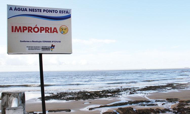 """Foto de Praias de São Luís e Ribamar estão um verdadeiro """"Merdelê"""""""