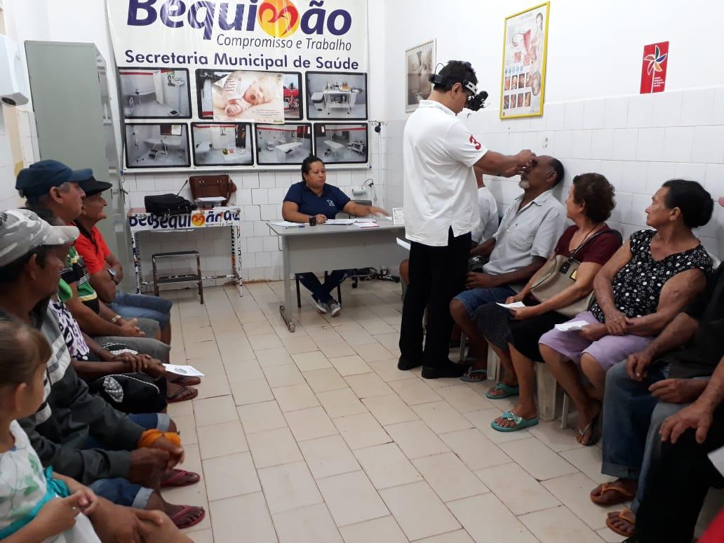Foto de Mutirão do Glaucoma atende 149 pessoas em Bequimão