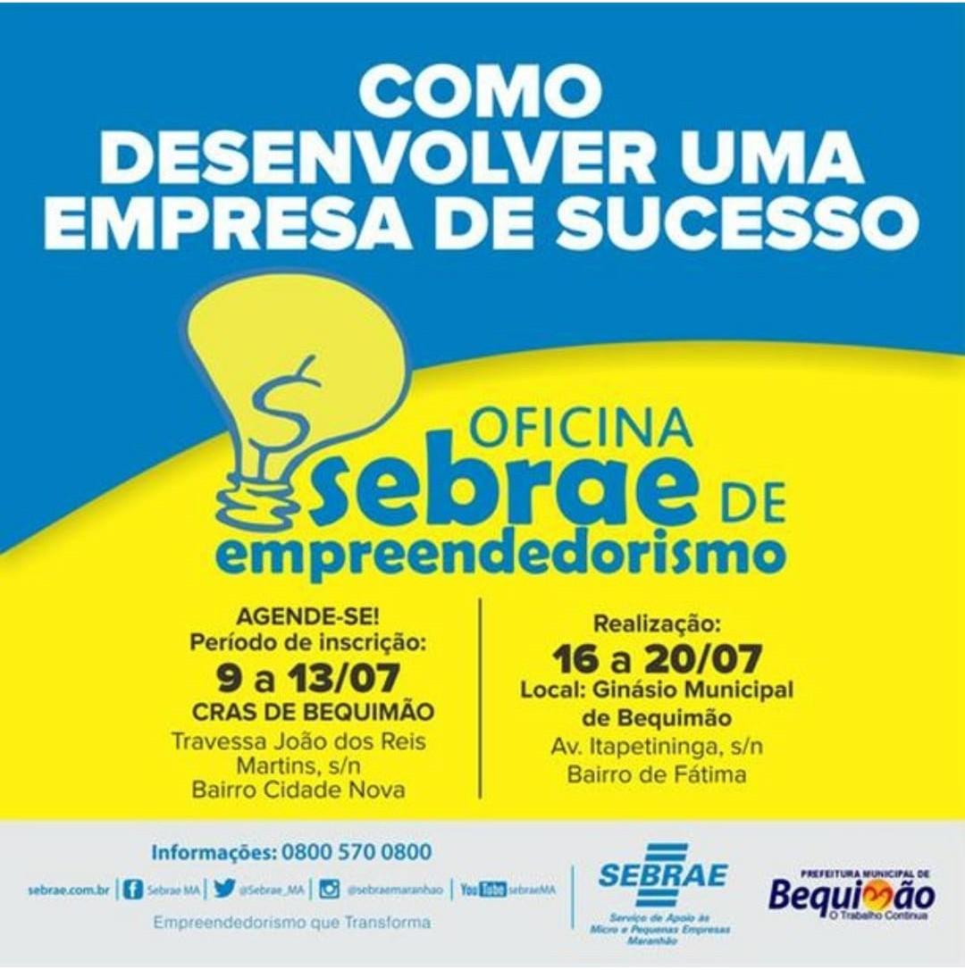 Photo of Bequimão sediará o curso Como Desenvolver uma Empresa de Sucesso