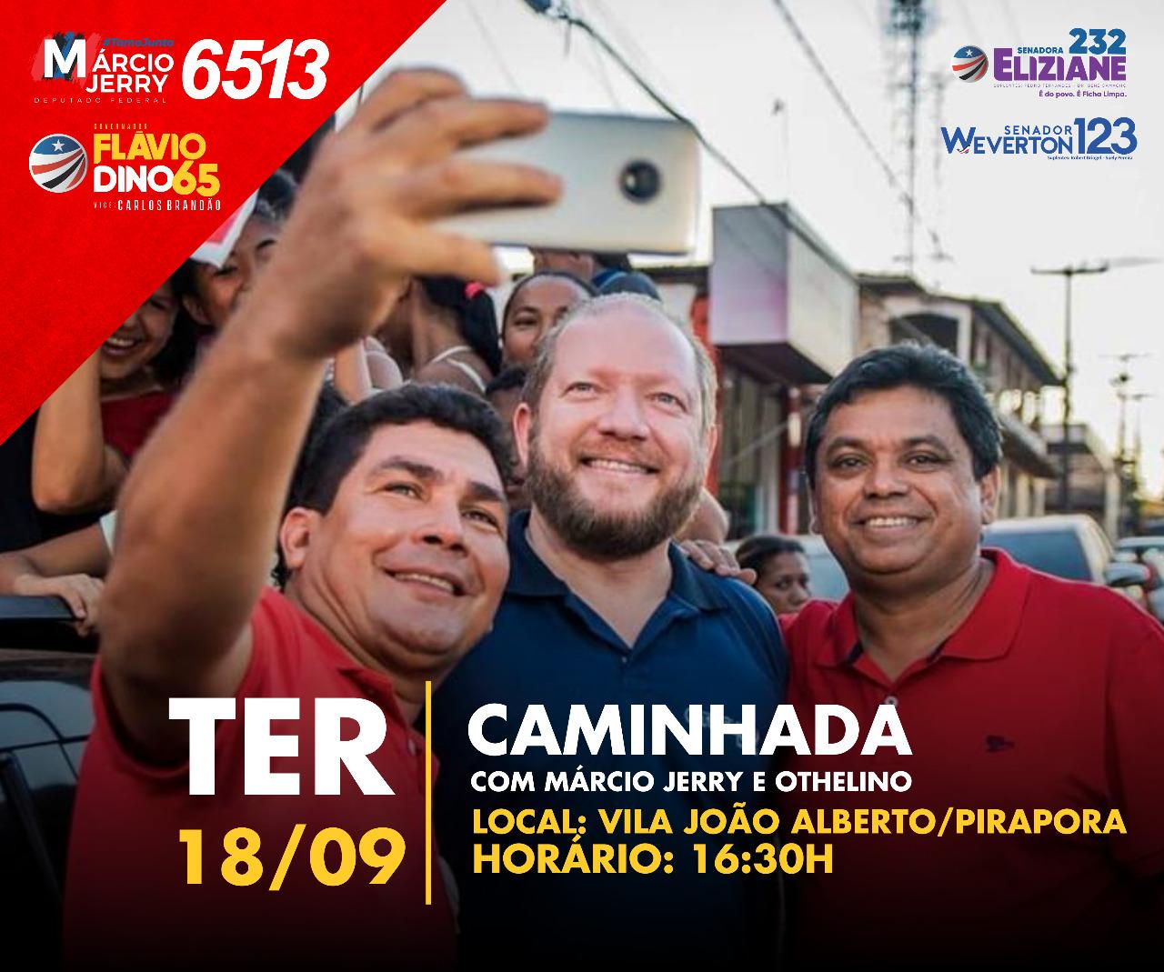 Photo of Othelino Neto e Márcio Jerry farão caminhada nesta terça-feira (18) no Pirapora