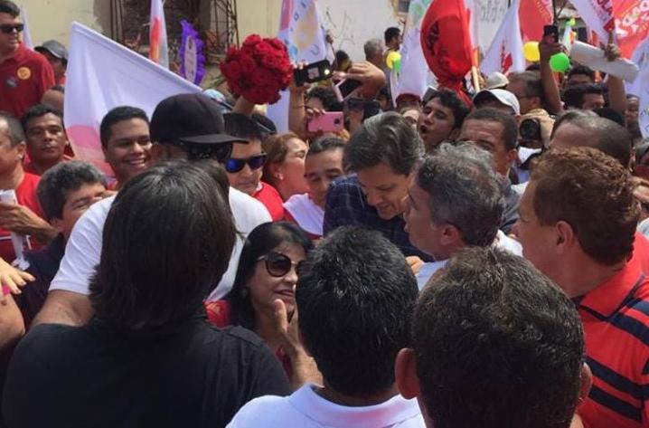 Foto de Vereadora Fátima Araújo participa de caminhada com Fernando Haddad em São Luís