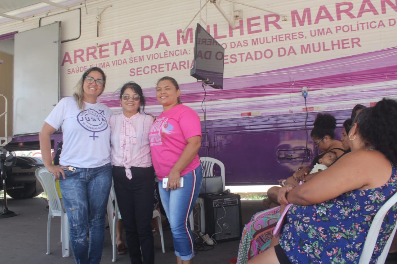 Photo of Ação Social da vereadora Fátima Araújo com a Carreta da Mulher Maranhense e Mamógrafo Móvel realiza 370 atendimentos no bairro do João de Deus