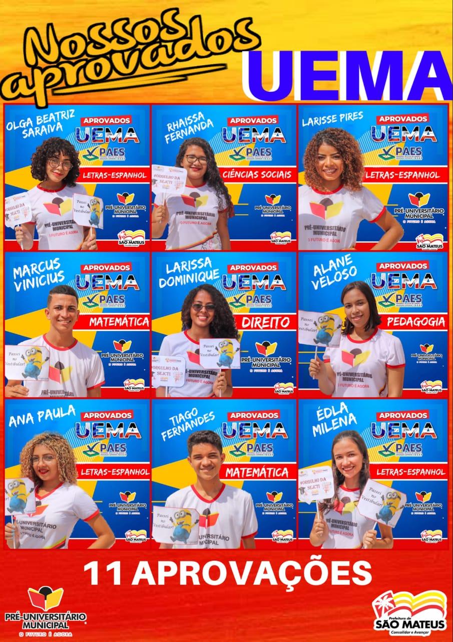 Photo of Cursinho da Prefeitura de São Mateus aprova onze candidatos na UEMA