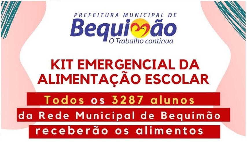 Photo of Alunos da rede municipal de ensino de Bequimão vão receber Kit Emergencial da Alimentação Escolar