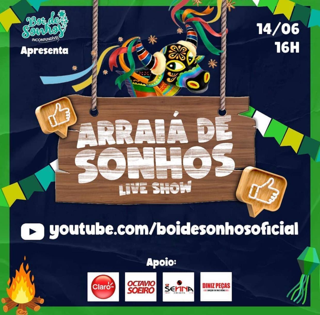 Photo of Boi de Sonhos realiza live neste domingo, dia 14 de junho