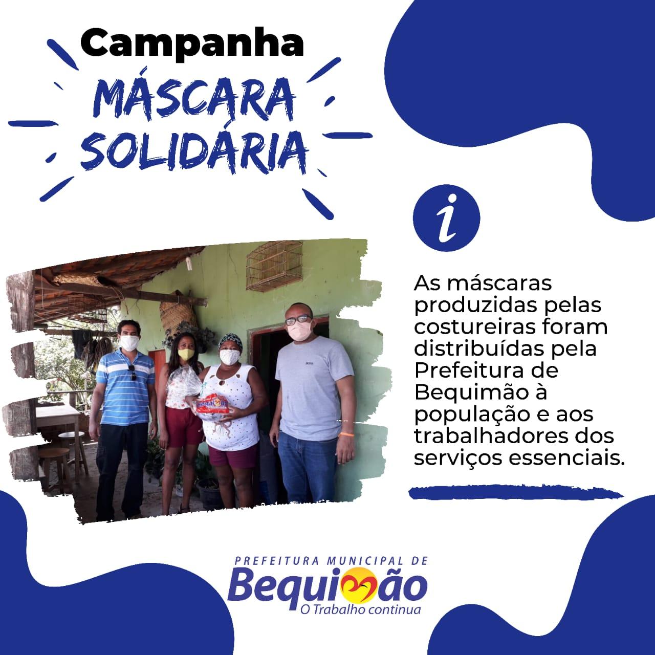 Photo of Prefeitura de Bequimão já distribuiu 10 mil máscaras para famílias carentes do município