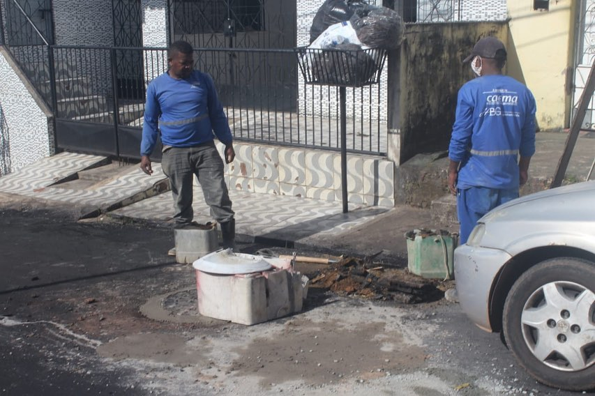 Photo of Após solicitação de Fátima Araújo, Caema resolve problema no bairro Santo Antônio