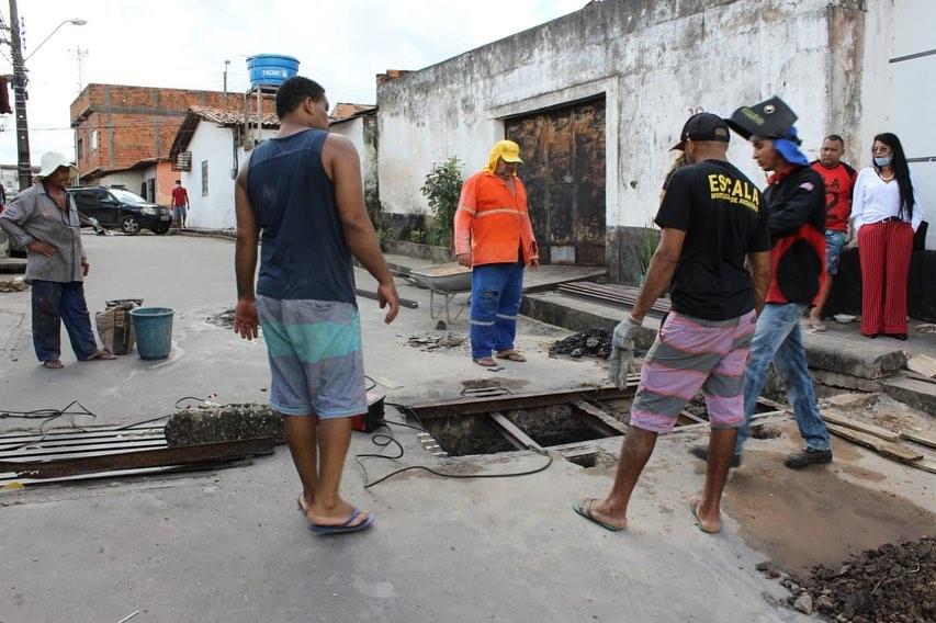 Photo of Grade de galeria no bairro João de Deus é reconstruída em regime de mutirão pelos moradores