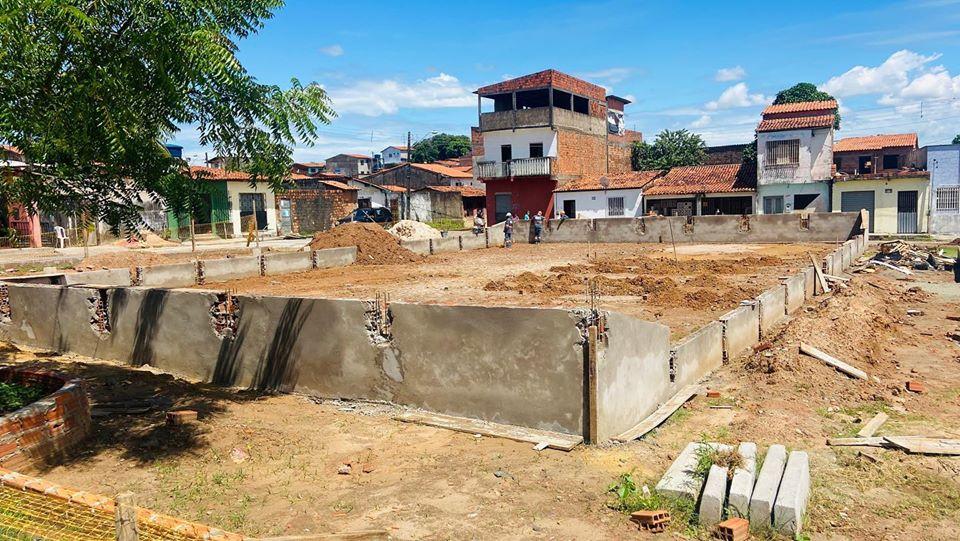 Photo of Obra da Praça Dr Jackson Lago no bairro Vila Conceição/João de Deus, avança