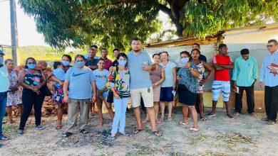 Photo of Fátima Araújo reúne com moradores da Vila Santo Antônio, na zona rural de São Luís