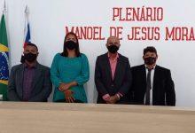 Foto de Vereadores de Bequimão são empossados e elegem Vetinho por unanimidade presidente da Câmara